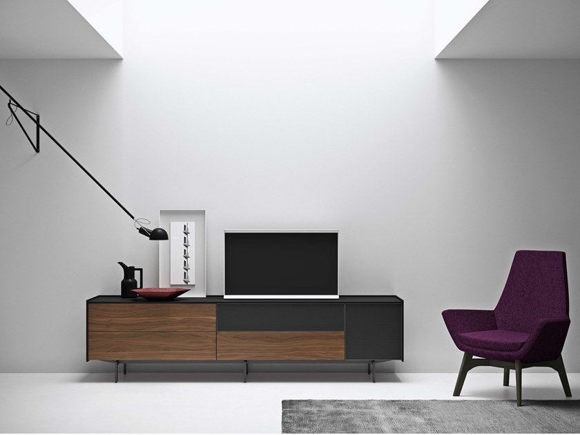 Lacquered sideboard with built-in speakers MAXIMA 02 by Md House