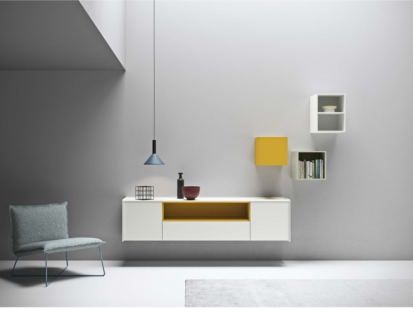 Lacquered suspended sideboard MAXIMA 03 by Md House