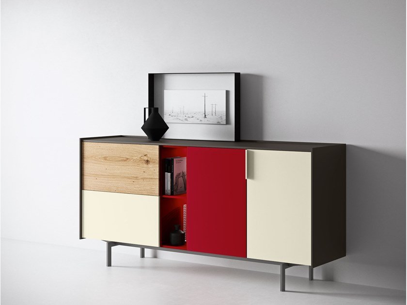 Lacquered sideboard with integrated lighting MAXIMA 05 by Md House