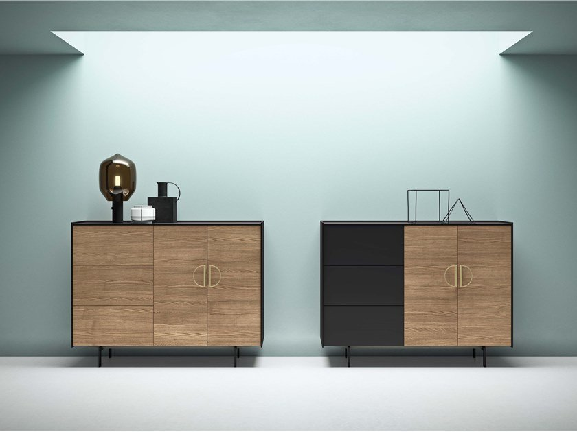 Highboard with doors with drawers MAXIMA 07 by Md House