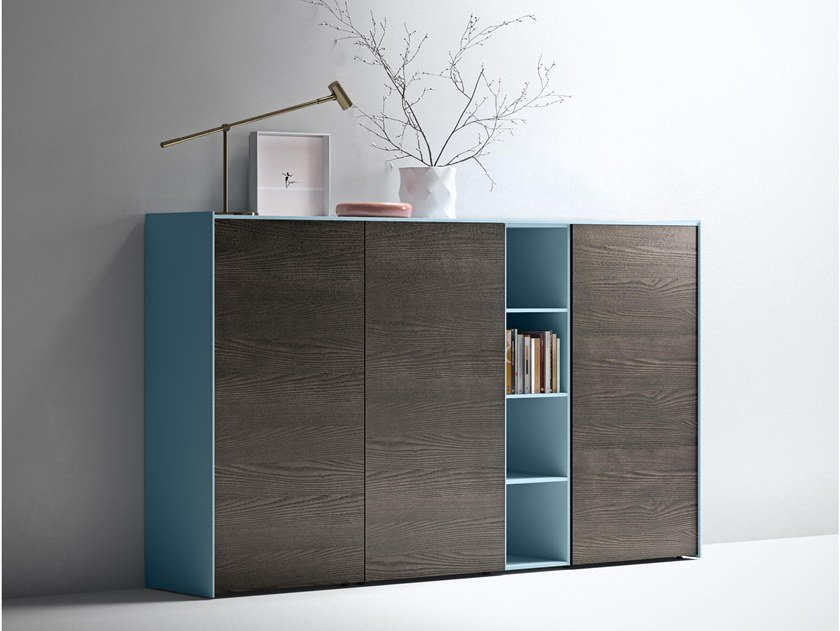 Lacquered highboard with doors MAXIMA 09 by Md House