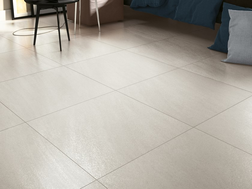 Porcelain stoneware wall/floor tiles with stone effect MAXIMA BLANC by NOVOCERAM
