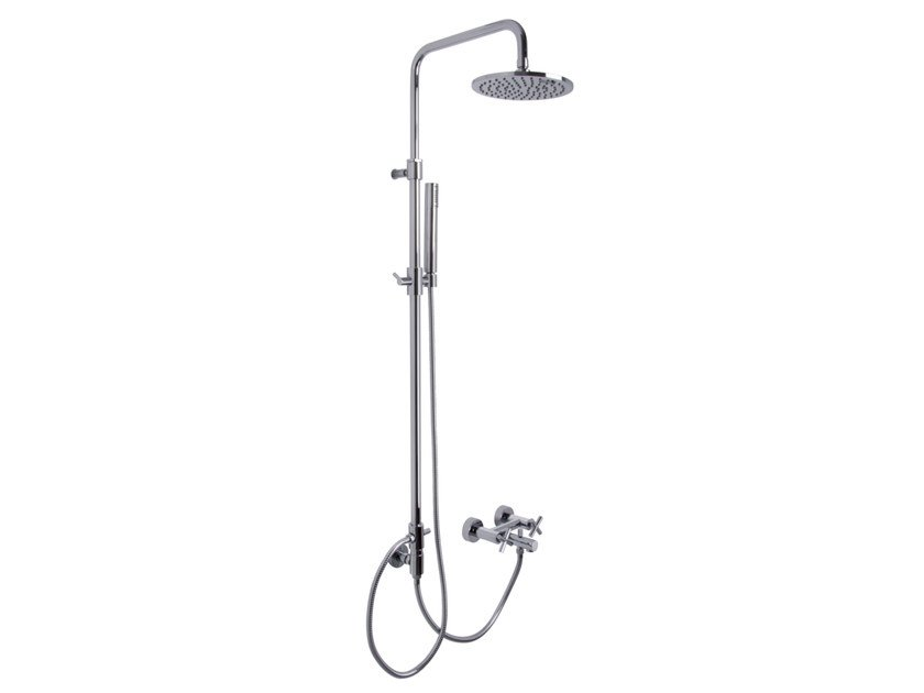 Shower wallbar with hand shower with overhead shower MAXIMA F5304/2 | Shower wallbar by FIMA Carlo Frattini