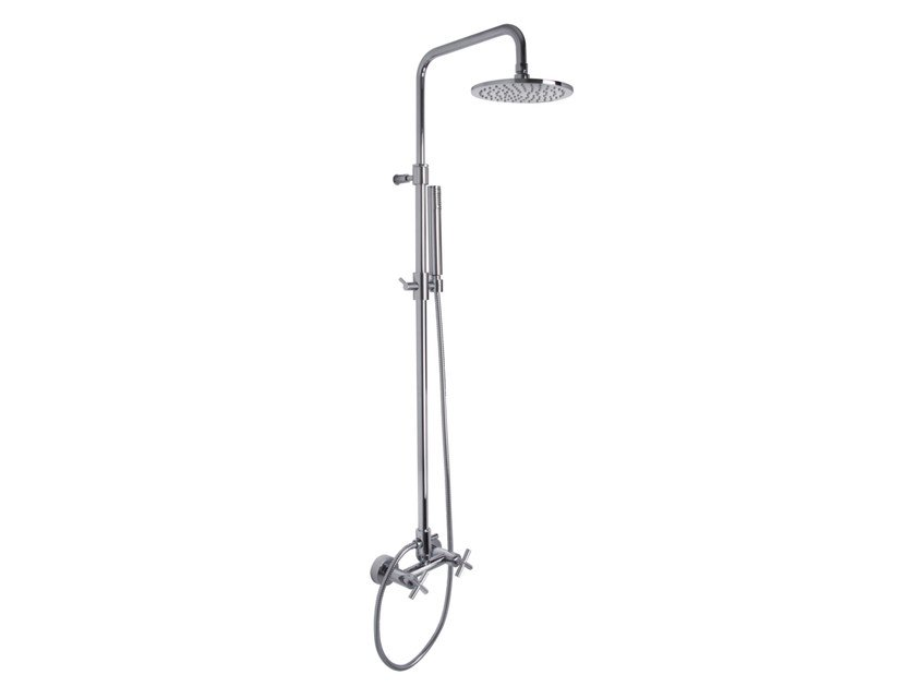 Wall-mounted shower panel with overhead shower MAXIMA F5305/2 | Shower panel by FIMA Carlo Frattini