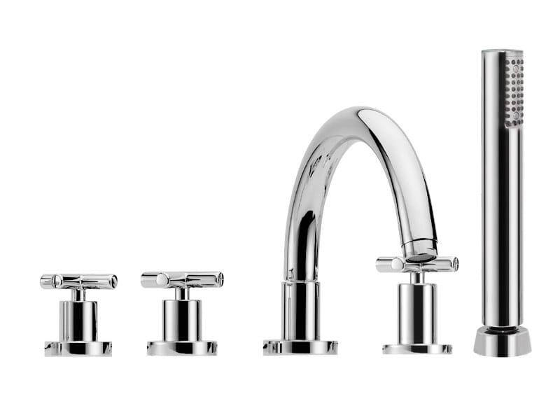 5 hole bathtub set with hand shower MAXIMA F5314 | Bathtub tap by FIMA Carlo Frattini