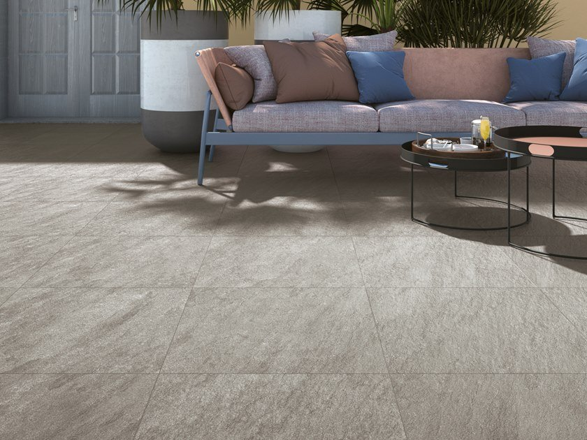 Porcelain stoneware wall/floor tiles with stone effect MAXIMA GRIS by NOVOCERAM