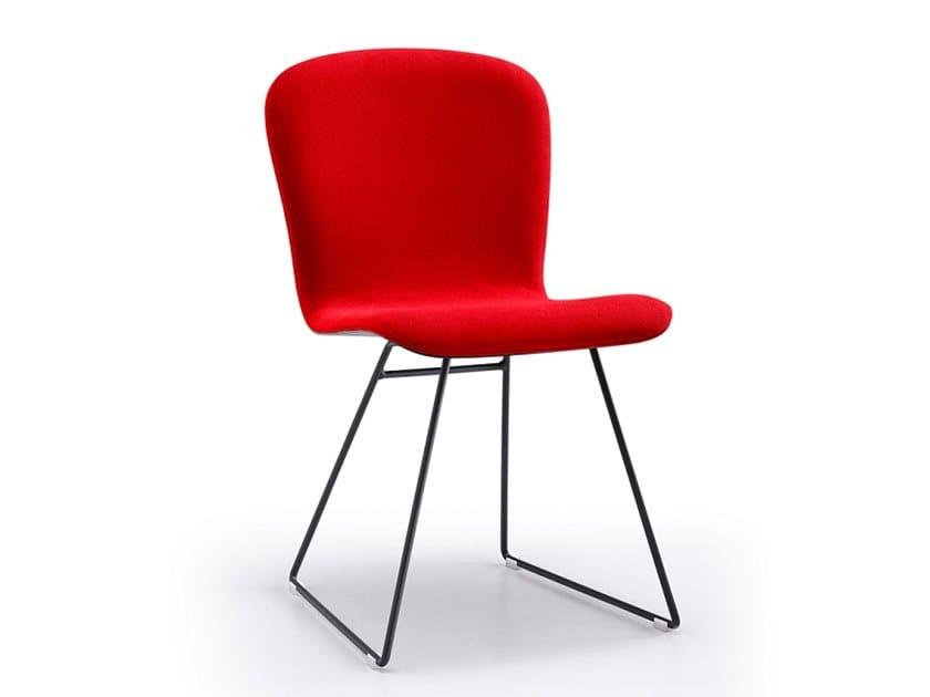Sled base upholstered chair MAYA | Sled base chair by Natisa