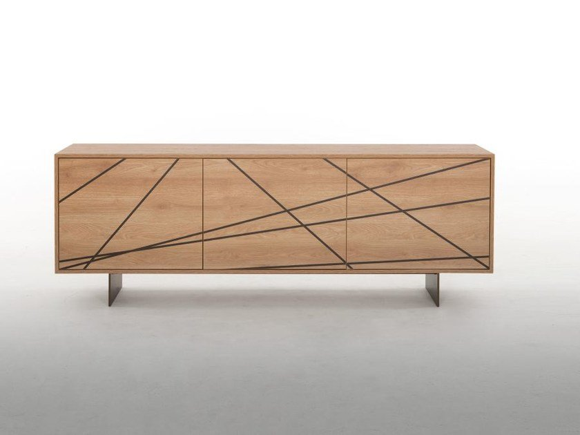 Wooden sideboard with doors MAYA by Tonin Casa