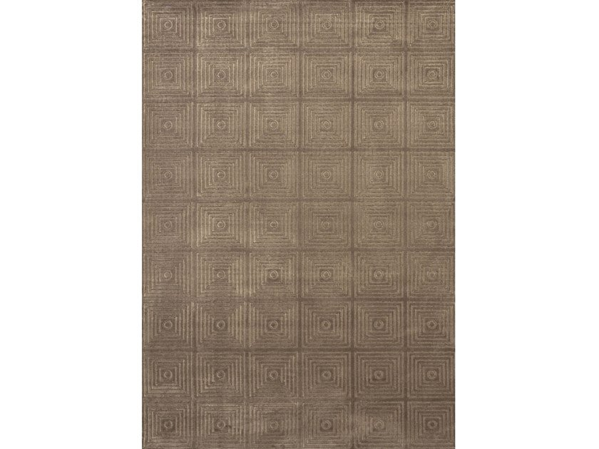Rectangular rug with geometric shapes MAYA TORTORA by Sirecom