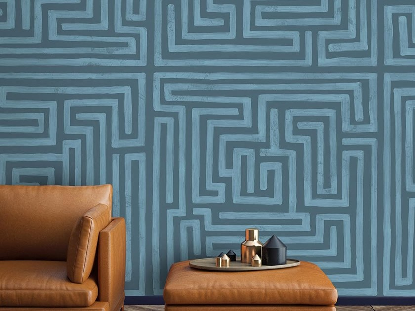 Industrial and modern wallpaper, PVC free, eco, washable MAZE by Wallpepper