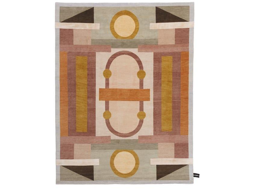 Handmade rectangular rug MAZZOLINO by cc-tapis