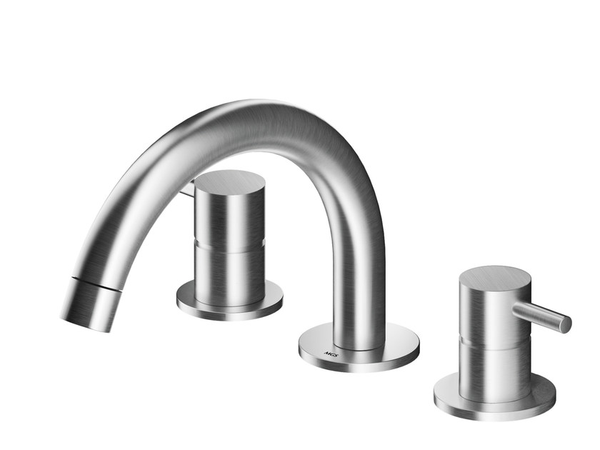 3 hole countertop stainless steel washbasin mixer MB249 | Washbasin mixer by MGS