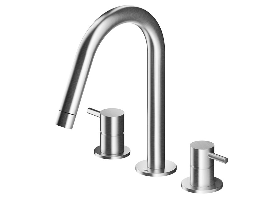 3 hole countertop stainless steel washbasin tap MB253 | Washbasin tap by MGS