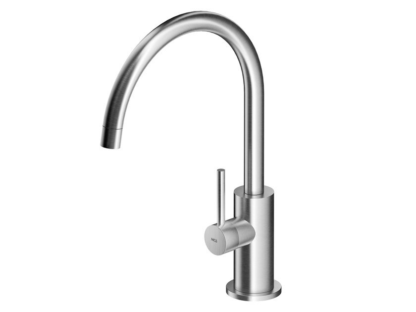 Countertop stainless steel washbasin mixer with aerator MB264 | Washbasin mixer by MGS
