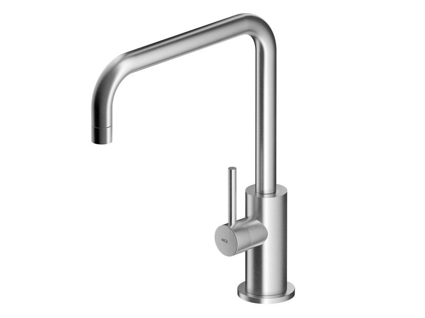 Countertop stainless steel washbasin mixer with aerator MB277 | Washbasin mixer by MGS