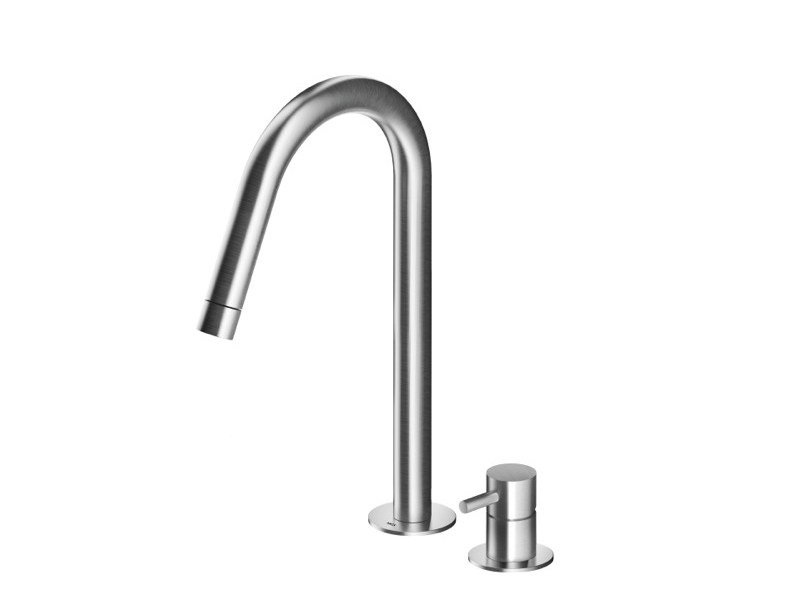 Countertop stainless steel washbasin mixer with adjustable spout MB280 | Washbasin mixer by MGS