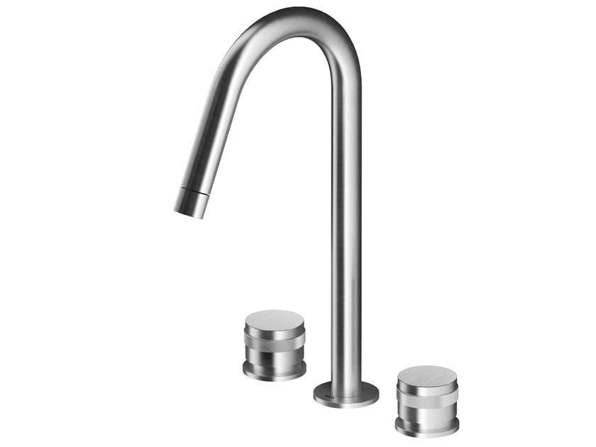 3 hole countertop stainless steel washbasin tap MB285   Washbasin tap by MGS