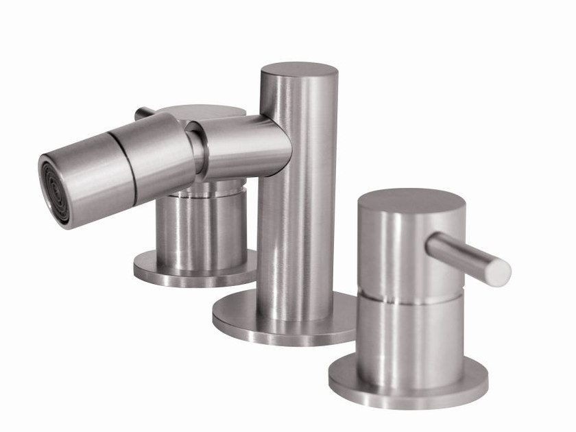 3 hole countertop stainless steel bidet tap MB305 | Bidet tap by MGS