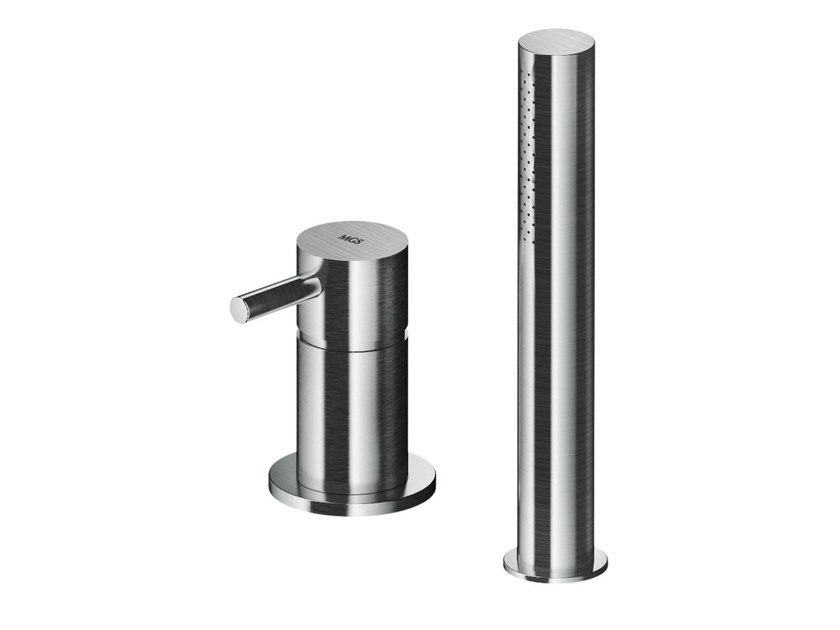 2 hole stainless steel bathtub mixer with hand shower MB509 | Bathtub mixer by MGS