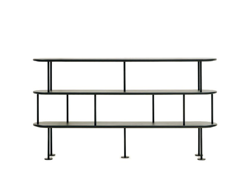 Powder-coated metal shelving unit MD SHELF by Wittmann
