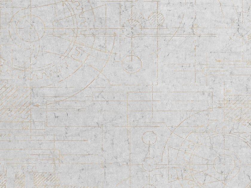 Geometric rubber nonwoven wallpaper MECCANO by Tecnografica Italian Wallcoverings