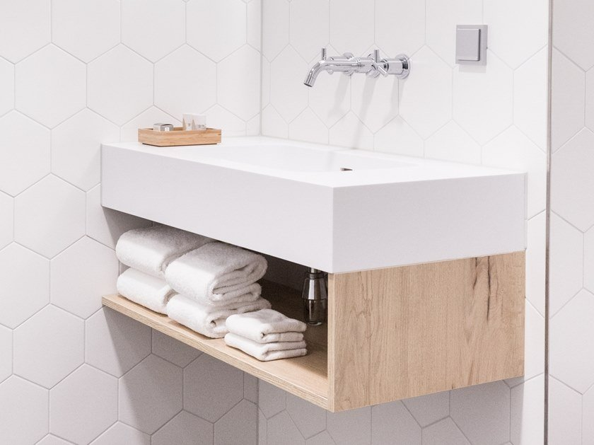 Rectangular washbasin with overflow MEDDIO by Not Only White
