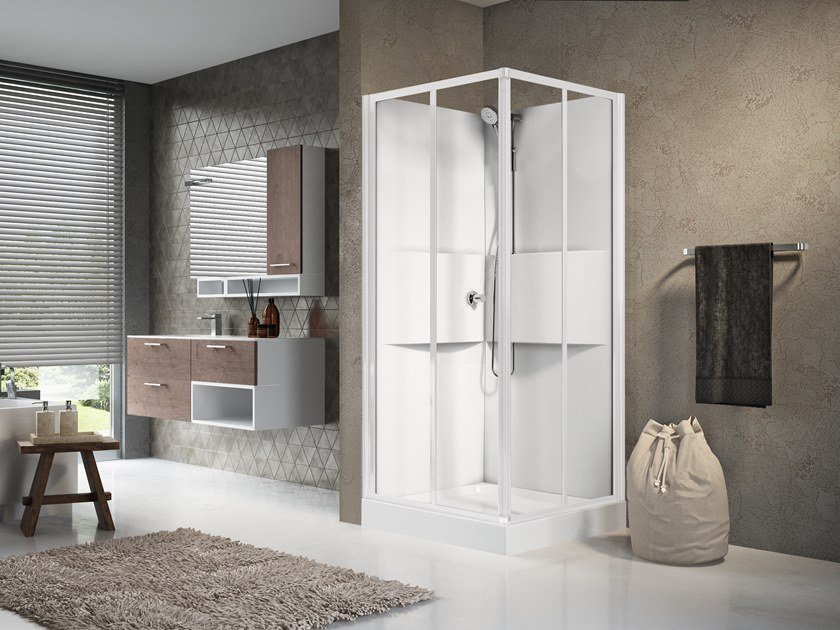 Multifunction shower cabin with sliding door MEDIA 2.0 A80 by NOVELLINI