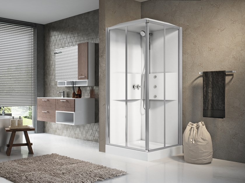 Multifunction shower cabin with sliding door MEDIA 2.0 A90 by NOVELLINI