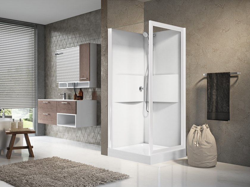 Multifunction shower cabin with hinged door MEDIA 2.0 GF80 by NOVELLINI