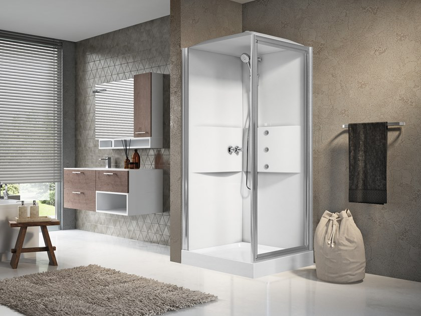 Multifunction shower cabin with hinged door MEDIA 2.0 GF90 by NOVELLINI