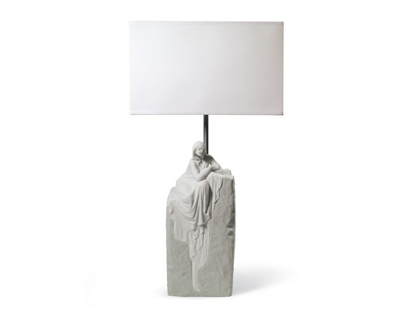 Porcelain table lamp MEDITATING WOMAN I by Lladró