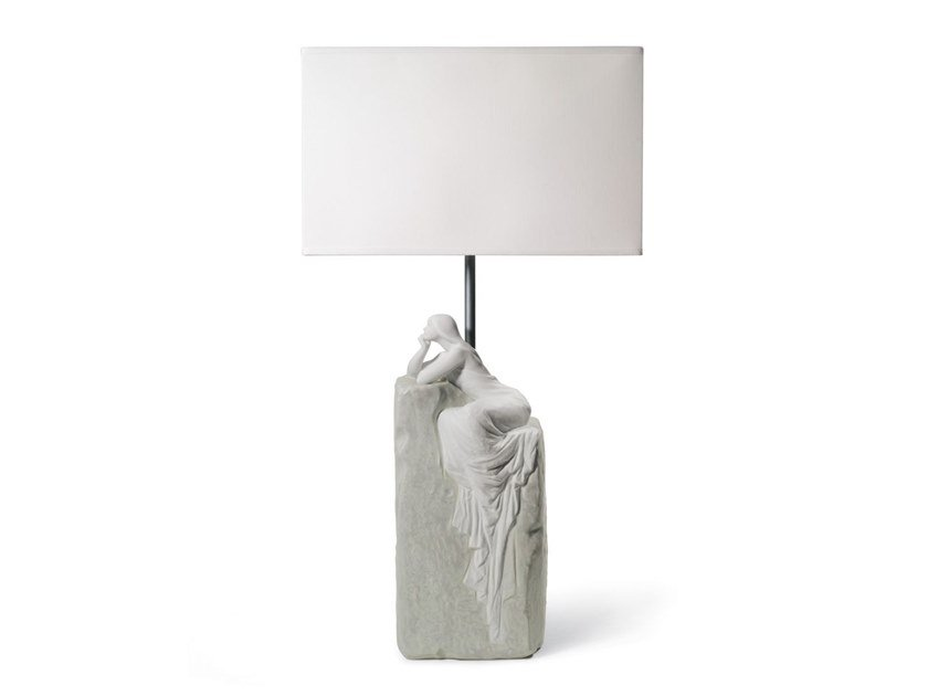 Porcelain table lamp MEDITATING WOMAN II by Lladró