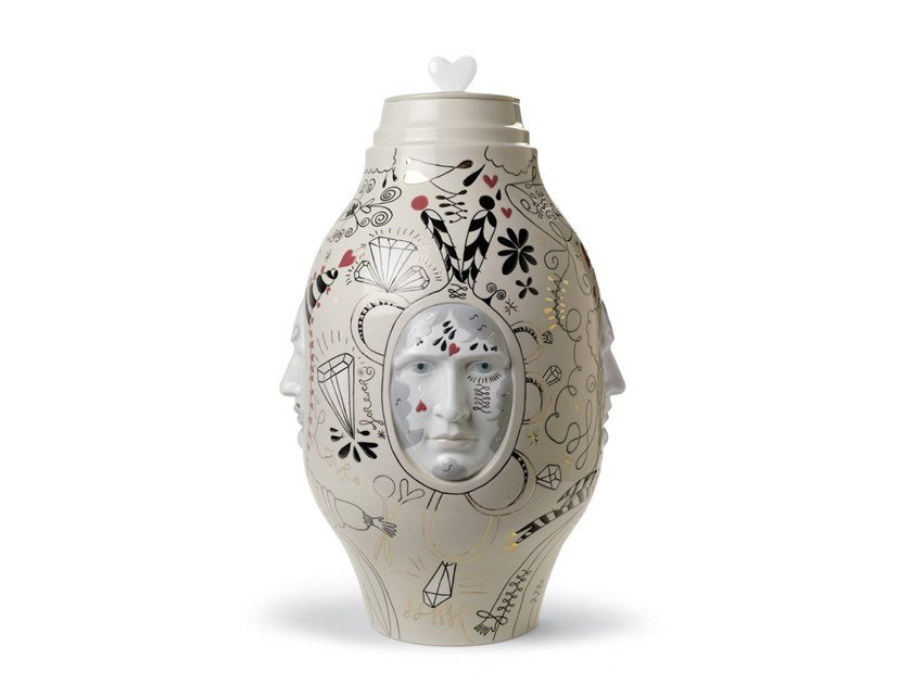 Porcelain vase MEDIUM CONVERSATION Ltd. Edition by Lladró
