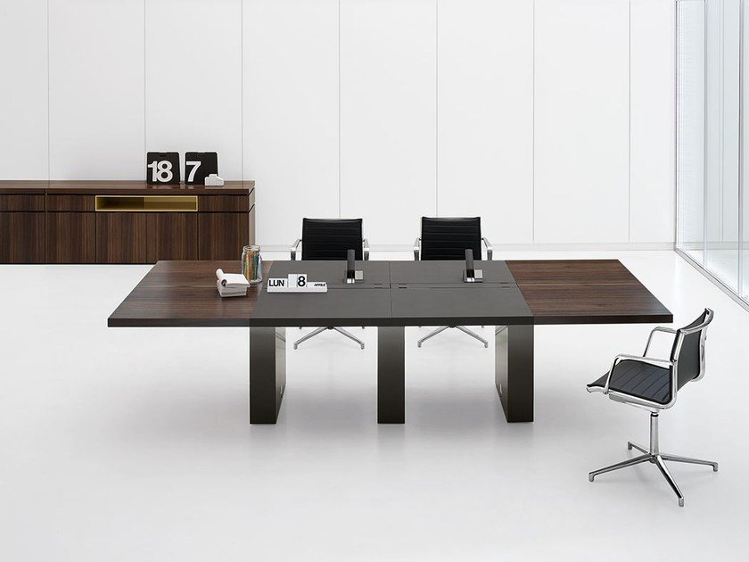 ARTU Meeting Table ArTu Collection By Archiutti - Conference room table cable management