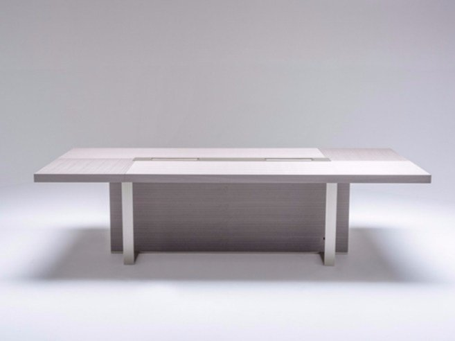 Rectangular meeting table with cable management NIKKEY | Meeting table by ersa