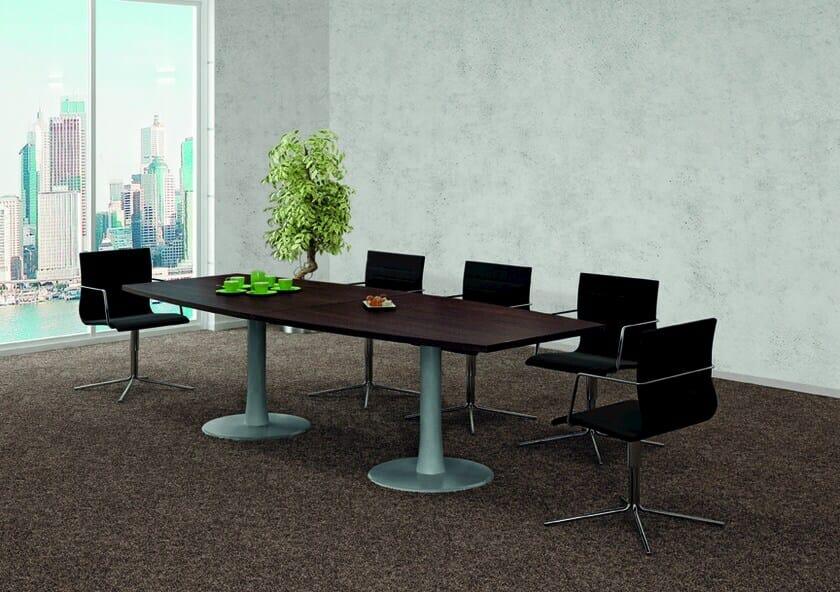 Melamine meeting table Meeting table by Quadrifoglio