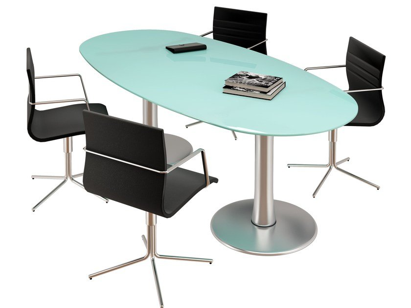 Oval meeting table Meeting table by Quadrifoglio