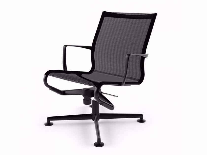 Swivel task chair with 4-Spoke base with armrests MEETINGFRAME LOUNGE 52 - 435 by Alias