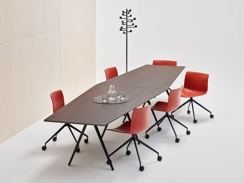 MEETY Meeting Table Meety Collection By Arper Design Lievore - Trapezoid conference table