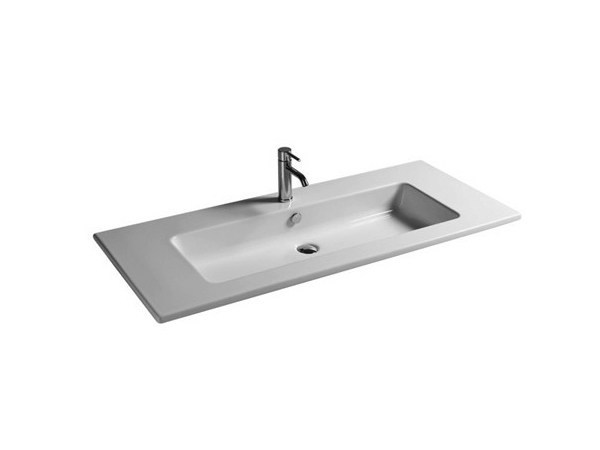 Rectangular ceramic washbasin MEG11 - 121 CM | Washbasin by GALASSIA
