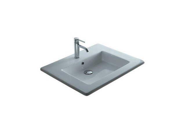 Inset rectangular ceramic washbasin MEG11 - 71 CM | Washbasin by GALASSIA