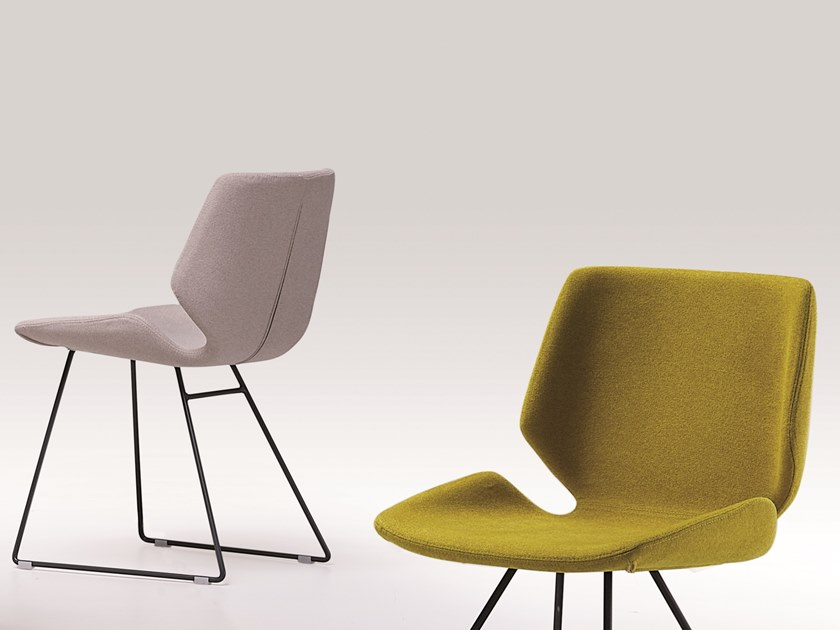Sled base fabric chair MEG | Sled base chair by Natisa