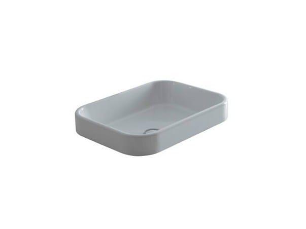 Rectangular ceramic washbasin MEG11 - 50X38 | Washbasin by GALASSIA
