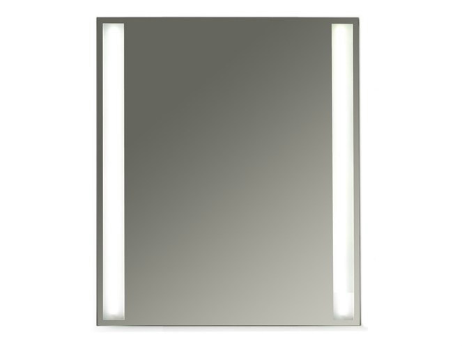 Wall-mounted bathroom mirror with integrated lighting MEG11 - 60 x 70 by GALASSIA