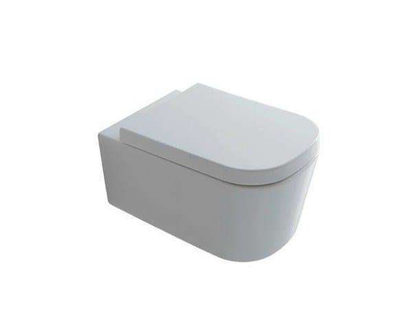 Wall-hung ceramic toilet MEG11 | Ceramic toilet by GALASSIA