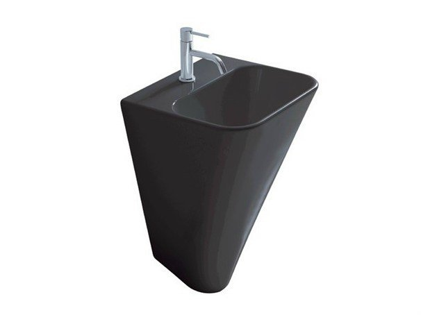 Wall-mounted ceramic washbasin MEG11 | Wall-mounted washbasin by GALASSIA