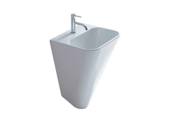 Wall-mounted ceramic washbasin MEG11   Wall-mounted washbasin by GALASSIA