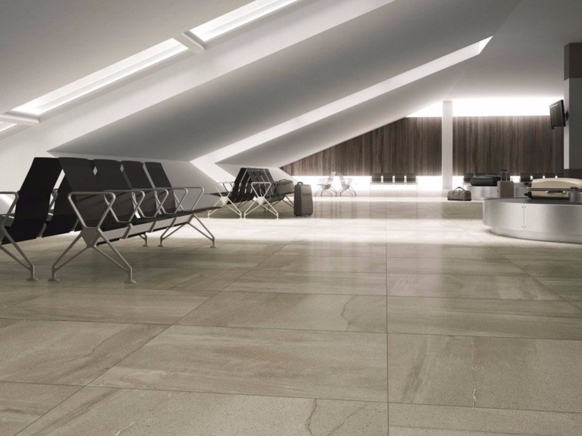 Porcelain stoneware flooring with stone effect MEGAGREIGE by GranitiFiandre