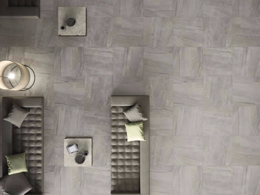 Porcelain stoneware flooring with stone effect MEGAGREY by GranitiFiandre