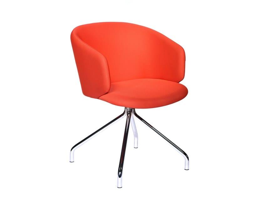 Swivel trestle-based chair MEGAN | Trestle-based chair by Tuna Ofis